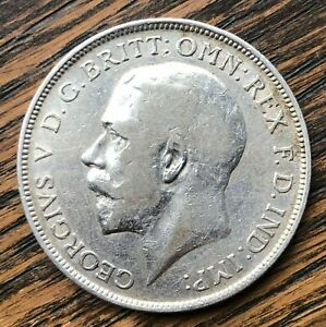 1914 King George V Silver One Florin Coin