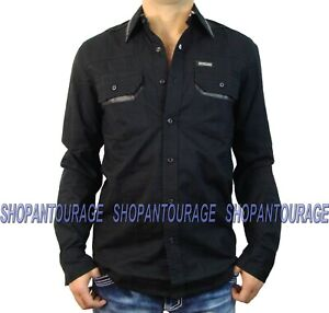 Affliction Blackout 110WV422 Men`s New Black Long Sleeve Button-Down Shirt