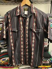 Vintage 90s Rustler By Wrangler Western Shirt Pearl Snap Southwestern Print M/L