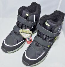 Kappa Denton II Tex - Winter Boots UK 4, Black / Lime Kids Sports Boots, Unisex
