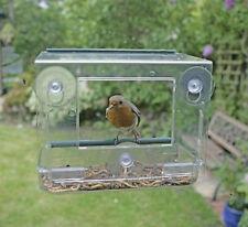 Garden Mile Unique Clear Hanging Perspex Squirrel Proof Window Bird Feeder Glass