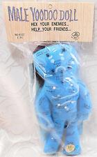New Male Voodoo Doll Blue Cloth Curse Enemies Help Friends Man Pins Novelty Hex