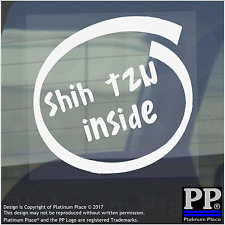 1 x Shih Tzu all'interno-Finestra, Auto, Furgone, STICKER, SEGNO, Adesivo, Cane, Pet, su, Board, piombo
