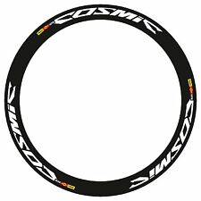MAVIC COSMIC CARBONE SL OR SLR RIM DECAL SET IN WHITE COLOR BLACK OUTLINED