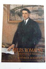 Jules Romains Affiche ancienne par PAUL ÉMILE BÉCAT 1978 SAINT-JULIEN CHAPTEUIL