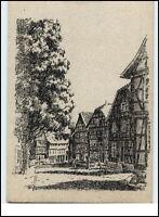 KORBACH Hessen Lengefelder Str. Federzeichnung Janisch