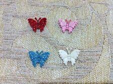 25 pcs  multi-color metallic cuty butterfly appliques craft size 2 cm