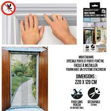 Moustiquaire Anti-insecte Découpable Pour Porte Fênetre 220X120CM - Blanc