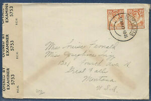 Northern Rhodesia 1941 sg 30 3d rate Censored Cover PM MUFULIRA 10 XII 43