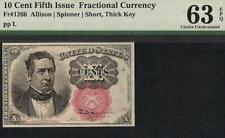 10 CENT FRACTIONAL CURRENCY SERIES 1874 NOTE PAPER MONEY Fr 1266 PMG 63 EPQ
