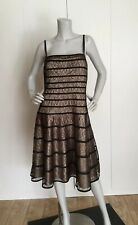 JS Collections Two Tone Nude/Black Cocktail Lace Dress Size 16