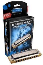 HOHNER Blues Harp MS Harmonica Key Bb, Diatonic, Includes Case, 532BL-BF
