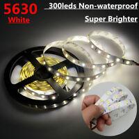 5M/16FT Non-waterproof SMD 5630 White 300 Led Flexible Strip Light DC 12V 4500K