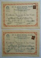 BUSTO ARSIZIO Varese scripofilia titolo certificato azionario 1946 n.2 azione