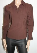 VERS Brand Brown Stretch Long Sleeve Shirt Top Size 12 BNWT #TM25