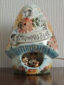 Vintage Derek Fowler Ceramic Night Light House of Mr & Mrs Bear