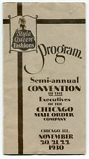 """Vintage Program: """"1930 CONVENTION - CHICAGO MAIL ORDER COMPANY"""""""