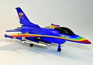 """Lockheed F-16 """"Fighting Falcon"""" Jet Fighter Airplane DieCast Metal Coin Bank NEW"""