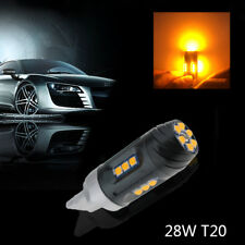 10x Canbus 3030 28W 7440 W21W T20 18 SMD Yellow LED Amber Front Rear Turn Signal