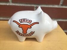 "Vintage Small Pfaltzgraff Texas Longhorns 6"" Piggy Bank with Stopper Plug."