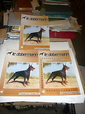 Le Dobermann. Revue Du Dobermann Club De France. Lot de 5 Revues : N° 74 Au 78
