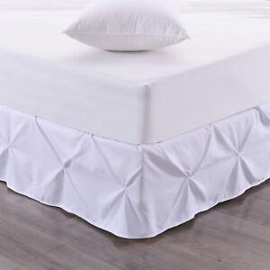 """Hudson Pintuck Bed skirt Ruffle 14"""" Drop"""
