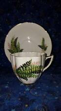 """Royal Prince """"Wild Fern"""" Bone China Cup & Saucer, Gold Trim; England; Numbered"""