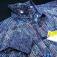 Robert Graham CARILLION Geometric Colorful Embroidered Shirts Large $278