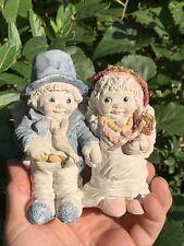 Vintage DREAMSICLES KRISTIN Cast Art Retired Wedding Couple Cake Topper ❤️sj4j