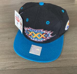 Vintage 1995 Super Bowl 30 XXX Dallas Cowboys Pittsburgh Steelers Snapback Hat