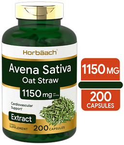 Avena Sativa Extract 1150 mg   200 Capsules   Oatstraw Extract   by Horbaach