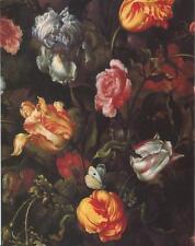VINTAGE BOTANICAL DUTCH TULIPS POPPIES IRIS ROSES GARDEN FLOWERS CARD ART PRINT