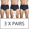 3 x JOCKEY MENS Y FRONT TRUNKS Underwear Undies Jocks Blue 28 30 32