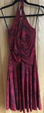 Lovely Arden B Ruched Red and Black Printed Stretch Dress, BNWT, Size XS, UK 6-8