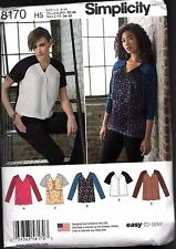 Simplicity  Pattern 8170 Misses Tunics and Tops       Sizes 6 - 14