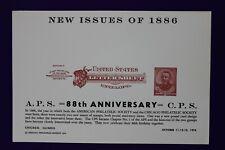 Aps Cps 1974 Us letter sheet envelope reprint 1886 U293 expo Souvenir card page