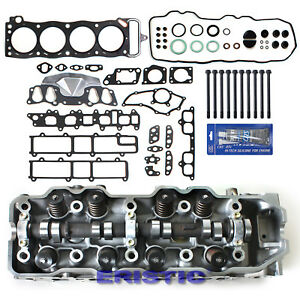 Fits 85-95 TOYOTA PICKUP 2.4L COMPLETE CYLINDER HEAD+HEAD GASKET SET BOLTS 22RE