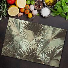 Glass Chopping Board Tropical Bush banana botanic lush Hawaii jungle forest