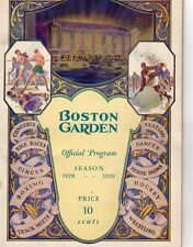 1928-29 Season Boston Garden First Boston Bruins GM/Opening Night Boxing Ex.