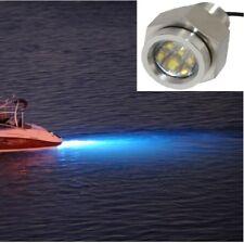 Blue IP68 Underwater Boat Drain Plug LED Light UltraBright 1800Lumen