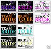 HEN NIGHT PARTY T SHIRT IRON ON TRANSFERS TEAM BRIDE RING ANY COLOUR A5 BRIDE