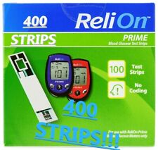 400 Count TOTAL ReliOn Prime Blood Glucose Test Strips AUG/2021 FREE SHIPPING!!