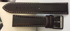 Huile Fine pour pendules cuir & handgearbeit DE LUXE BRACELET MONTRE 22mm brun
