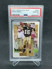 2001 Upper Deck MVP Drew Brees #287 Rookie RC Chargers PSA 10