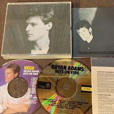 BRYAN ADAMS Hits On Fire JAPAN-ONLY 24k GOLD+PICTURE 2CD D50Y3205 INSERT Rental