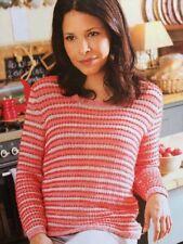 BK3 - KNITTING PATTERN - Woman's Knot Stitch Top Sweater Jumper - 10 Sizes/8 Ply