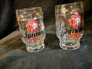 Jordan Bräu Amberg 2 Bierglas 0,25 L sehr selten