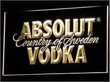 New Custom Absolut Vodka hanging LED Neon Light Signs Bar Man Cave 7 colors