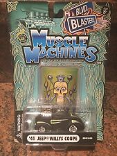 1:64 Blown/supercharged MUSCLE MACHINES 41 Jeep Willys Coupe In Black