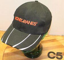 KONECRANES LIFTS MACHINERY CRANE HAT BLACK/WHITE ADJUSTABLE VERY GOOD COND C5